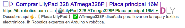 como poner iconos en la metadescription CTR SEO