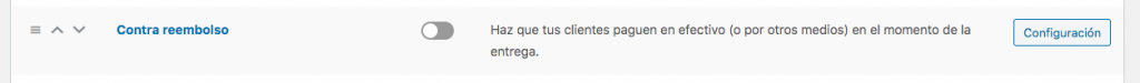 contra reembolso woocommerce