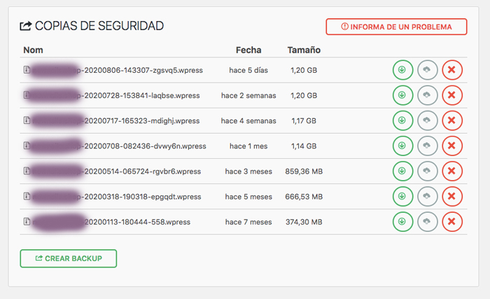 backups automaticos wordpress woocommerce