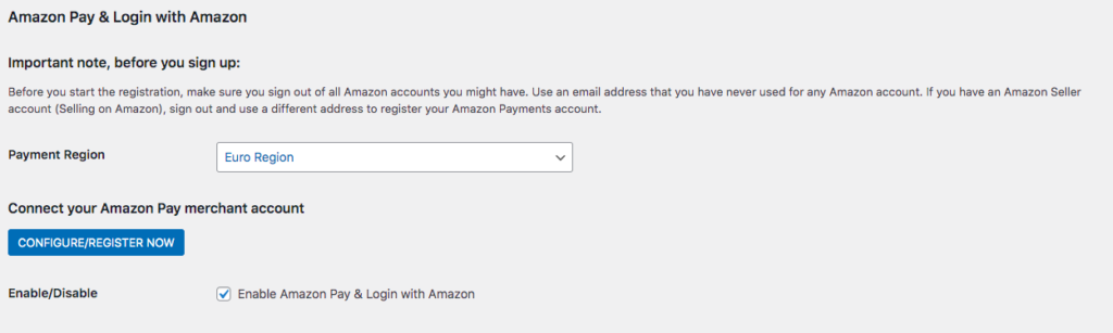 configurar amazon pay woocommerce